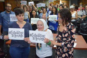 """Nora Cortiñas, """"la Madre de todas las batallas"""" reclama justicia por Cristina Vázquez"""