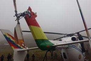 Helicóptero en que viajaba Evo Morales cayó de quince metros, pero el presidente salió ileso