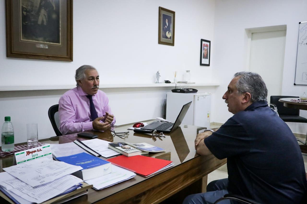 Reunión de trabajo: Passalacqua visitó al flamante contador general de la Provincia