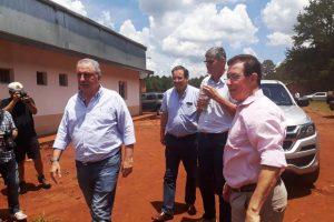 Passalacqua y Garay recorrieron los avances de la obra de la Planta de Almidón de Mandioca en Puerto Esperanza