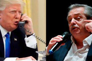 Alberto Fernández recibió el llamado de Donald Trump