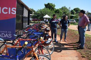 Losada inauguró una nueva estación de Eco Bicis en la Costanera Oeste