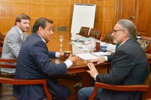 Herrera Ahuad y el ministro Oriozabala se reunieron con el ministro de Agricultura de la Nación Luis Basterra