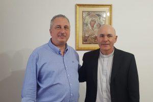 Passalacqua visitó al Obispo de Oberá, Damián Bitar