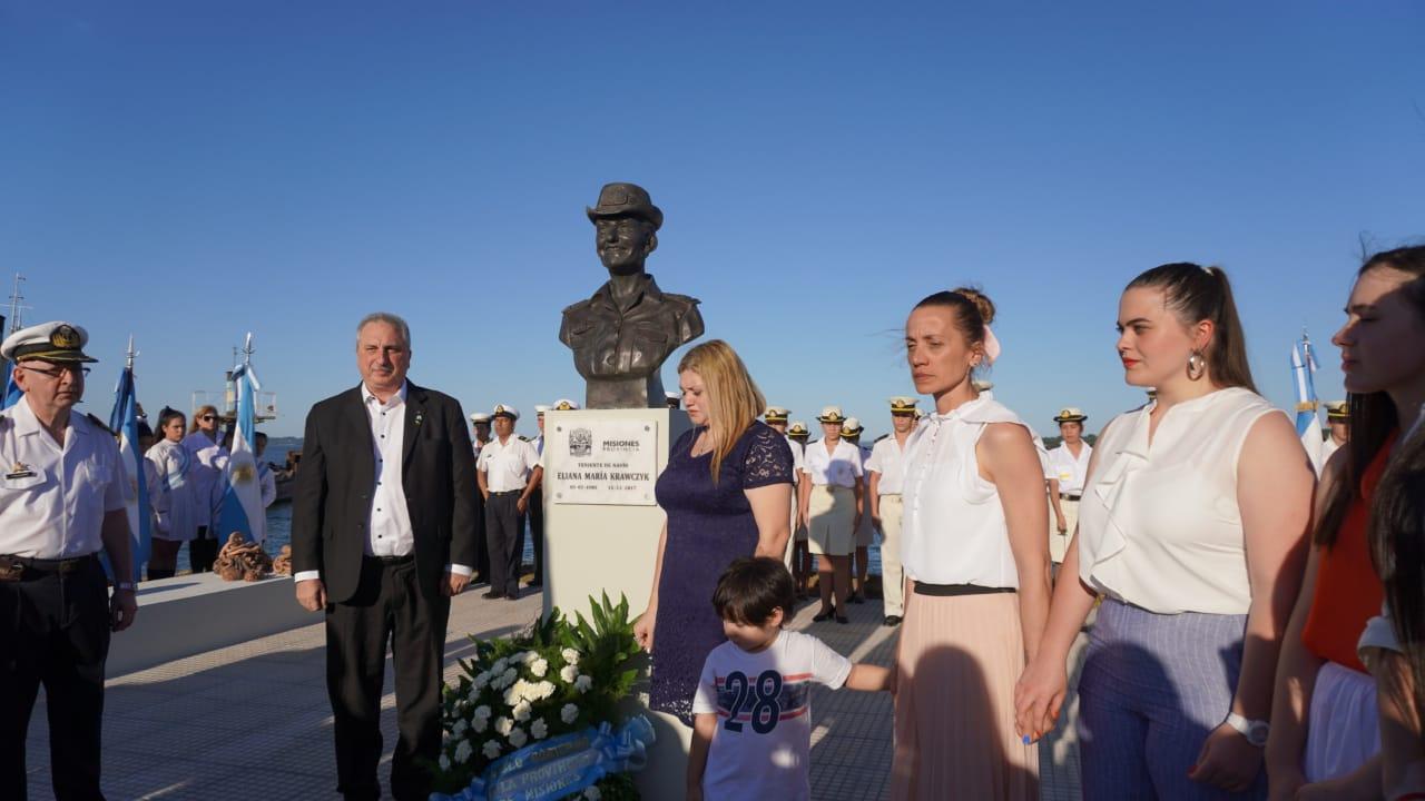 Passalacqua presidió el homenaje a los misioneros  tripulantes del ARA San Juan