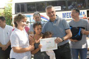 Arce acompañó el operativo P.A.S en el barrio Yacyretá de Posadas