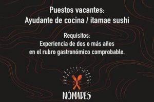 Búsquedas laborales: Restaurante de la Costanera incorpora personal