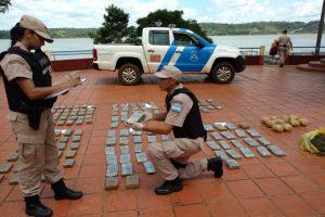 Seguridad en las fronteras: Prefectura incautó más de 55.000.000 de pesos en marihuana