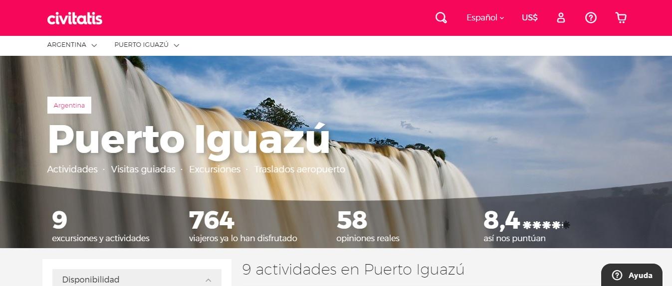 Civitatis desembarca en Argentina con Iguazú como uno de sus principales atractivos