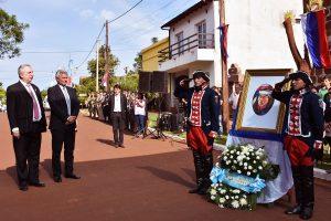 """""""Andresito fue ante todo un hombre federal"""", remarcó Passalacqua al evocar al prócer en Concepción de la Sierra"""