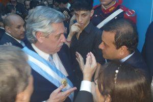 Herrera Ahuad, a horas de jurar, acompañó al presidente Alberto Fernandez
