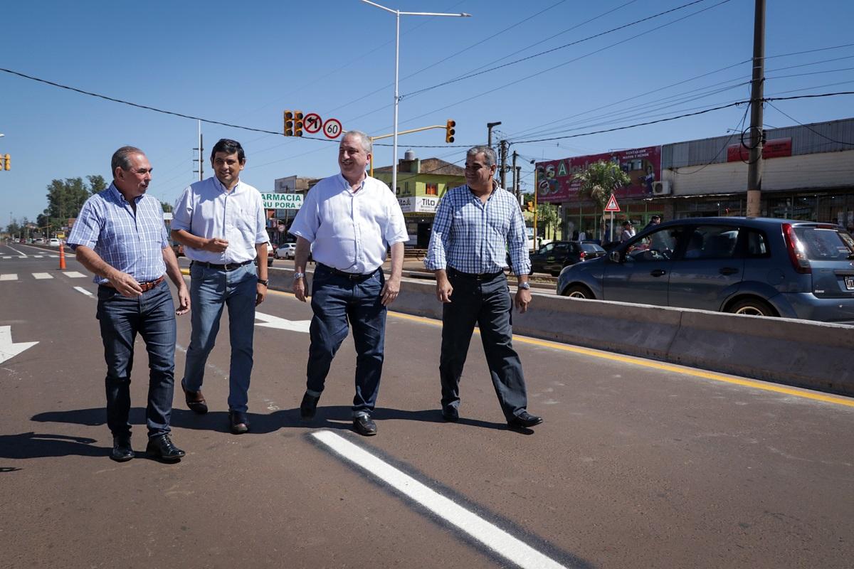 Passalacqua supervisó las obras de la Travesía Urbana sobre ruta 12 entre Posadas y Garupá