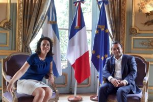 Herrera Ahuad se reunió con la embajadora de Francia para tratar una agenda estratégica de cooperación