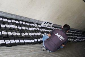 La AFIP secuestró 207 kilos de cocaína