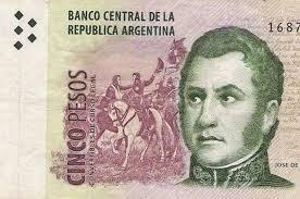 """La inflación """"licuó"""" a San Martín: A fin de mes dejará de circular el billete de 5 pesos"""