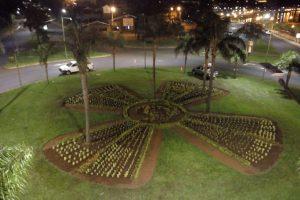 Más de mil plantines lucen en la rotonda del Monumento al Papa