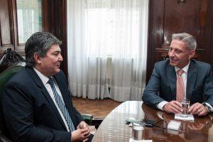 Lanziani recibió al gobernador de Chubut, Mariano Arcioni