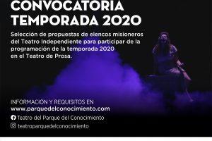 El Parque del Conocimiento convoca a elencos misioneros para el Ciclo Nuestro teatro 2020