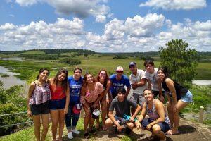 Jóvenes posadeños participaron de una jornada integradora en el complejo Yabebirí