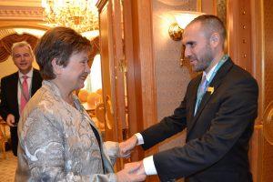 Guzmán se reunió con Georgieva en la Cumbre del G20