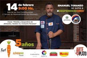"""Emanuel Toranzo brindará una charla sobre """"Pérdida y desperdicio de alimentos"""""""