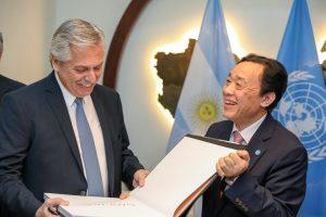 El presidente Alberto Fernández se reunió con el director general de la FAO