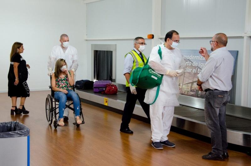 Se realizó con éxito el ejercicio de simulación de la detección de un caso de coronavirus en el Aeropuerto de Puerto Iguazú