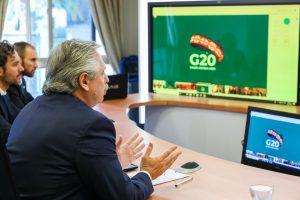 """Alberto Fernández le pidió al G-20 un """"fondo de emergencia humanitaria"""""""