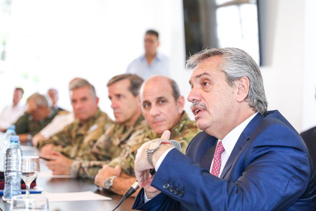 Alberto Fernández dió instrucciones a las Fuerzas Armadas y repasó ...