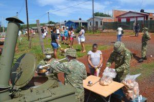 Cuarentena: actividades de apoyo del Ejercito Argentino