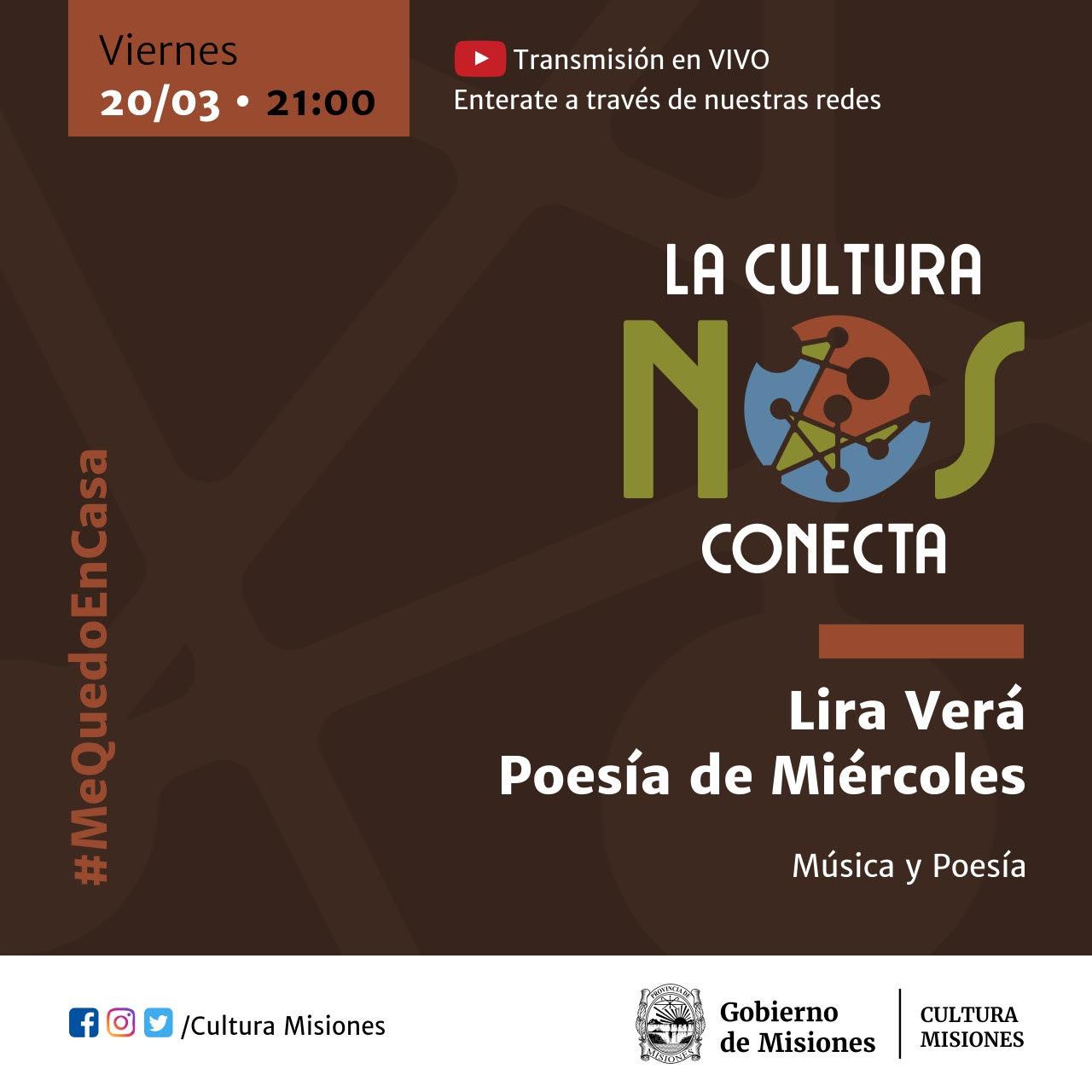 """Esta noche inicia """"La Cultura Nos Conecta"""", streaming de artistas provinciales"""