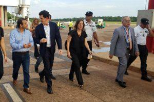 Herrera Ahuad recibió a los ministros de Pedro y Frederic en Puerto Iguazú
