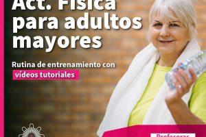 Deportes y cuarentena: clases virtuales a los adultos mayores