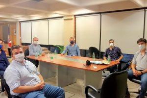 El intendente Stelatto recibió a representantes de la Cámara de Comercio