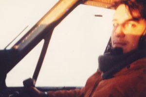 Krause cuando piloteba Twin Otter para conectar la Patagonia con la Antártida.