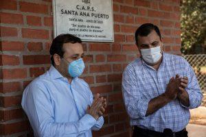 Herrera Ahuad habilitó el CAPS del puerto de Santa Ana y entregó insumos de bioseguridad