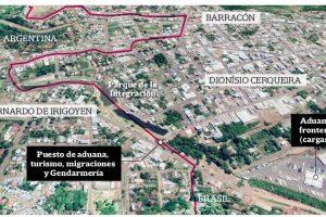"""Una infografía de Economis que explica cómo es la frontera seca, esa """"delgada línea"""" que nos separa del Coronavirus en Brasil"""