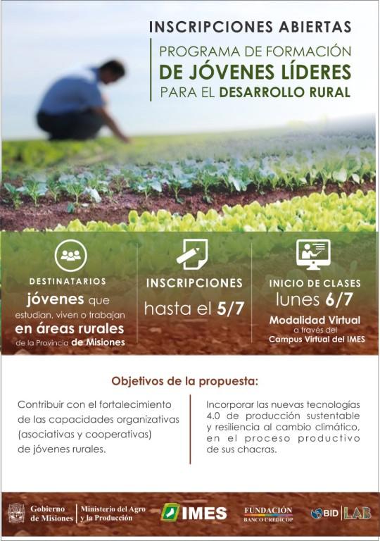 """El IMES presentó el programa de formación de """"Líderes para el desarrollo rural"""""""