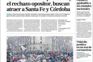 Las tapas del miércoles 17: El Gobierno busca sumar adhesiones por Vicentín