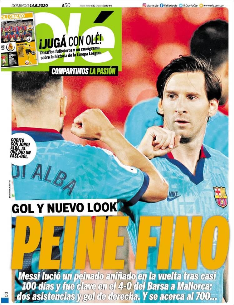 Las tapas del domingo 14: Vicentín y el regreso de Messi, con gol
