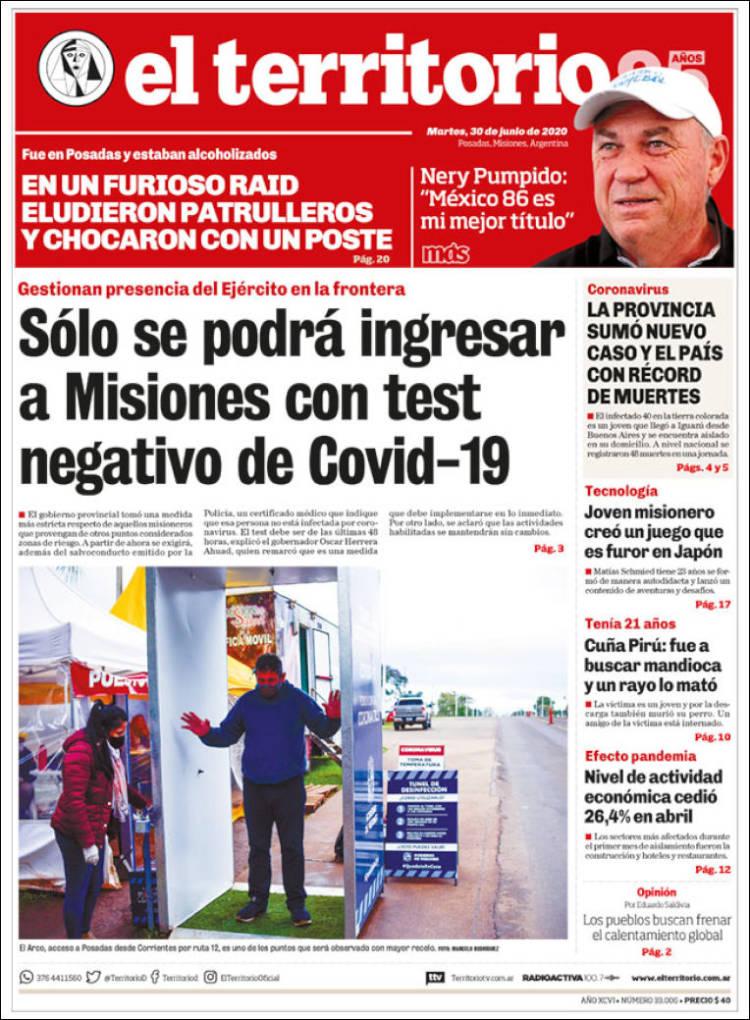 Las tapas del martes 30: Mayores restricciones para ingresar a AMBA; Misiones pide test