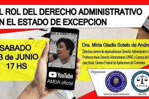 Disertarán sobre el rol del Derecho Administrativo en el Estado de excepción