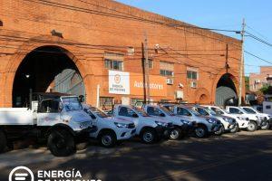 Energía de Misiones incorporó 9 vehículos nuevos a su parque automotor