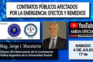 """Capacitaran sobre los """"Contratos públicos afectados por la emergencia: efectos y remedios"""""""