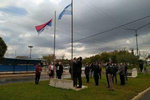 Bernardo de Irigoyen celebra sus 99 años: hubo izamiento de banderas y ofrenda floral a los pioneros