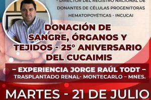 Del 21 al 24 de julio ciclos de videoconferencia sobre Donación de Sangre, Órganos y Tejidos y Enfermería