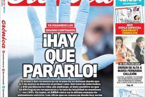 Las tapas del lunes 13: Argentina pasó la barrera de los 100.000 contagios
