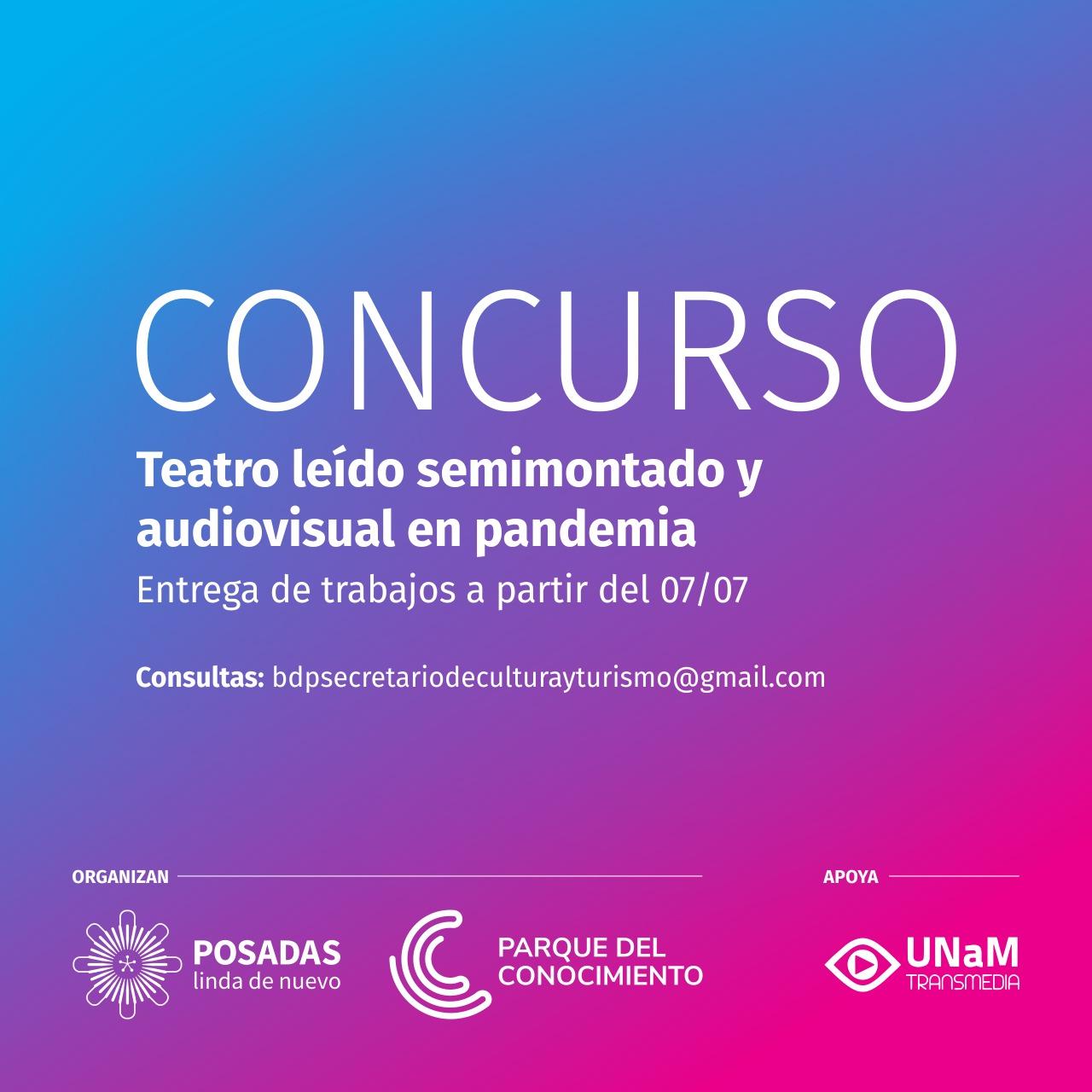 Concurso de Teatro Leído Semimontado y Audiovisual en Pandemia