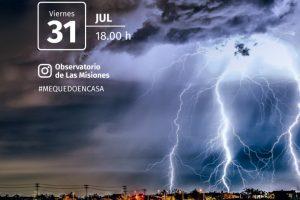 """""""Todo sobre las tormentas"""", una nueva charla virtual del Observatorio del Parque"""