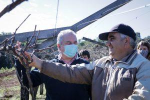 Passalacqua visitó a productores de fruta y se reunió con las intendentas misioneras en Almafuerte
